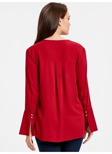 LC Waikiki Bluz Kırmızı